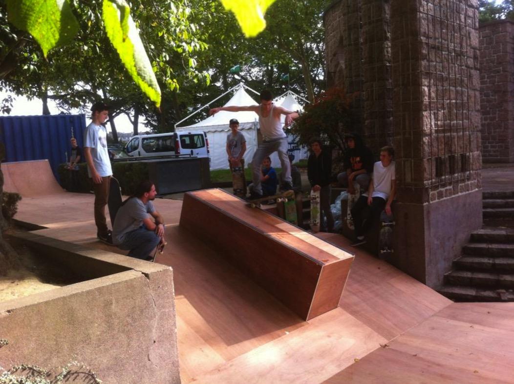 skatepark éphémère au festival Cité Rap à Saint-Brieuc en 2013